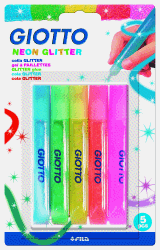 GIOTTO GLITTERLIM 5-PACK NEON