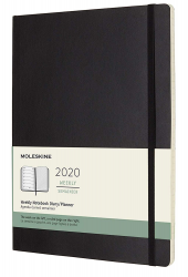 MOLESKINE CLASSIC 2020 WEEKLY/DIARY PLANNER, SOFT COVER, XL