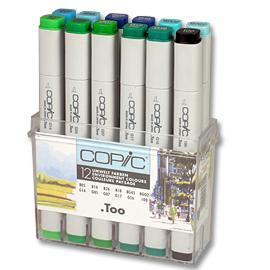 COPIC MARKER 12-SET ENVIRONMENENT