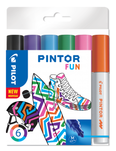 PILOT PINTOR MARKER FUN MEDIUM 6-PACK