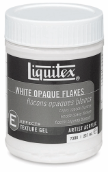 LIQUITEX WHITE OPAQUE FLAKE 237 ML