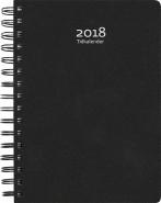 TIDKALENDER 2018, SVART PP-PLAST