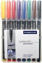 STAEDTLER LUMOCOLOR 314 BROAD 1,0-2,5MM 8-SET