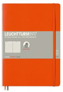 LEUCHTTURM B5 LINJERAD, ORANGE