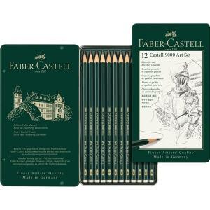 FABER CASTELL 9000 BLYERTSPENNA I 12-SET