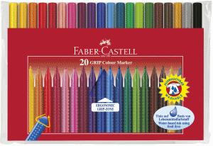 FABER CASTELL FIBERPENNA GRIP COLOUR, 20-SET