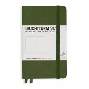 LEUCHTTURM POCKET PRICKAD, ARMY GREEN