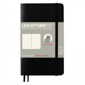 LEUCHTTURM SOFT POCKET PRICKAD, BLACK