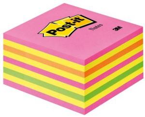 POST-IT KUB 76X76MM, INTENSIVE PINK