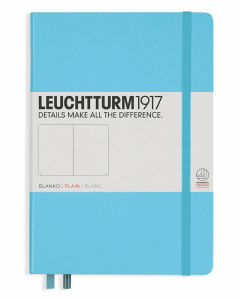 LEUCHTTURM MEDIUM BLANK, ICE BLUE
