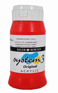 DALER ROWNEY SYSTEM 3 AKRYLFÄRG 500ML, CADMIUM SCARLET 511