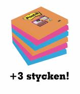 3M POST-IT 654 76X76 BANGKOK + 3 STYCKEN PÅ KÖPET!