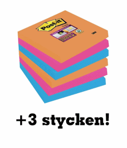 3M POST-IT 654 76X76 9-PACK BANGKOK + 3 STYCKEN PÅ KÖPET!