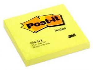 POST-IT 3M 654 BLOCK 76X76MM