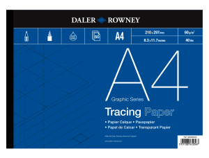 DALER & ROWNEY TRACING PAPER 60G, A4