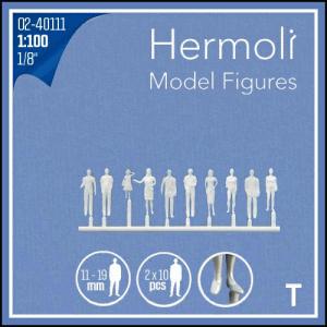 HERMOLI STÅENDE FIGURER 1:100 20ST