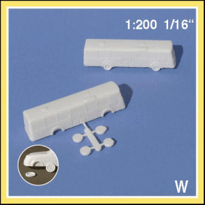 MODELLBILAR BUSS 1:200