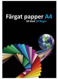 MATTON FÄRGAT PAPPER A4 120 GRAM 50-PACK, SET OM 10 FÄRGER