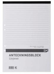 ANTECKNINGSBLOCK A4 MED LIMMAD KORTSIDA