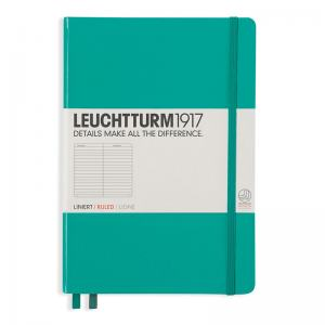 LEUCHTTURM MEDIUM LINJERAD, EMERALD