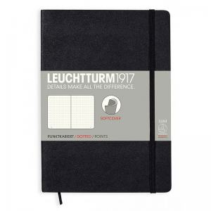 LEUCHTTURM SOFT MEDIUM PRICKAD, BLACK