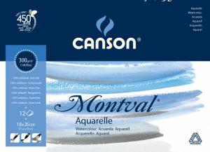 CANSON MONTVAL AKVARELLBLOCK GF, A3