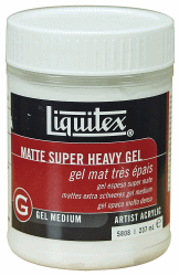 LIQUITEX SUPER HEAVY MATTE ACRYLIC GEL MEDIUM 237ML