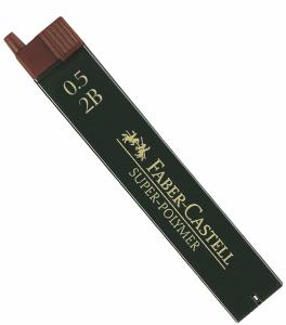 FABER CASTELL BLYERTSSTIFT 0,5MM, 2B