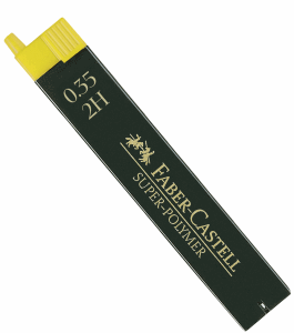 FABER CASTELL BLYERTSSTIFT 0,3MM, 2H