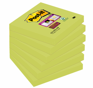 POST-IT SUPERSTICKY 76X76MM, GREEN