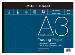 DALER & ROWNEY TRACING PAPER 90G,  A3