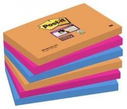 POST-IT SUPERSTICKY 76X127MM 6-PACK