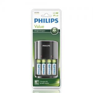 PHILIPS BATTERILADDARE LEVERERAS MED AA