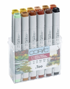 COPIC MARKER 12-SET AUTUMN