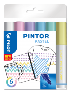 PILOT PINTOR MARKER PASTEL MEDIUM 6-PACK