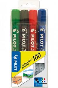PILOT PERMANENT MARKER 100 4-SET