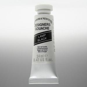 WINSOR & NEWTON DESIGNERS GOUACHE 37ML LAMP BLACK 337