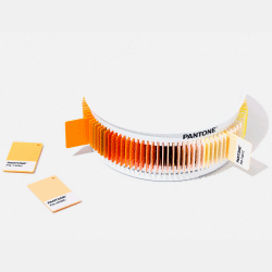 PANTONE PLASTIC STANDARD CHIP COLOR SET YELLOW/ORANGE/GOLD