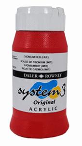 DALER ROWNEY SYSTEM 3 AKRYLFÄRG 500ML, CADMIUM RED 503