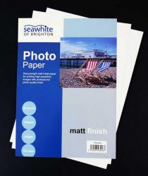 SEAWHITE FOTOPAPPER MATT A4 25 STYCKEN
