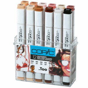 COPIC MARKER 12-SET SKIN