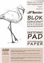 LENIAR SKISSBLOCK A4 60G 100ARK RETURPAPPER