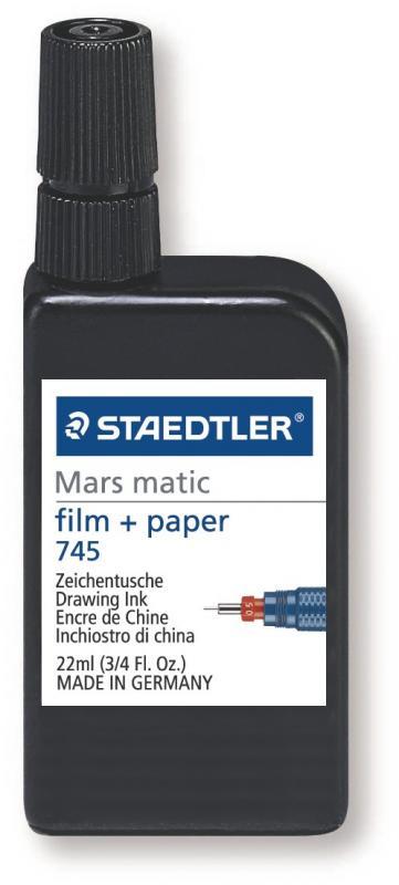 STAEDTLER MARS MATIC TUSCH  745 SVART - FILM/PAPPER