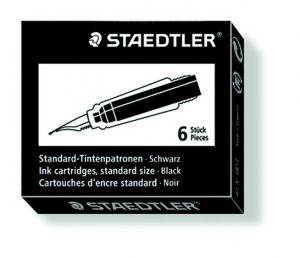 STAEDTLER PREMIUM LINE INK CARTRIDGE BLACK
