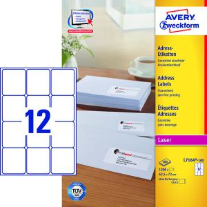 AVERY L7164 (63,5X72MM) 1200ST