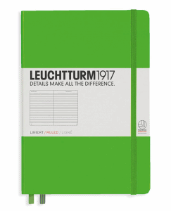 LEUCHTTURM MEDIUM LINJERAD, FRESH GREEN