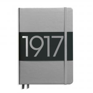 LEUCHTTURM METALLIC EDITION MEDIUM LINJER SILVER 1917