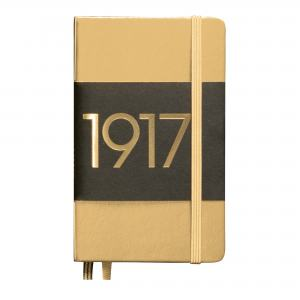 LEUCHTTURM METALLIC EDITION POCKET LINJERAD GOLD 1917