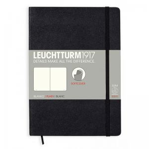 LEUCHTTURM SOFT MEDIUM OLINJERAD, BLACK