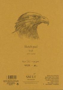 SKISSBLOCK A4 90GR KRAFTPAPPER